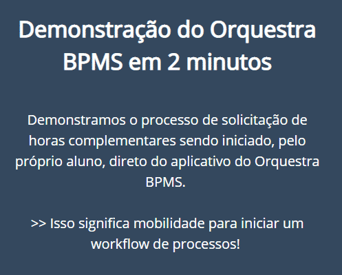 Demonstração do Orquestra para IES