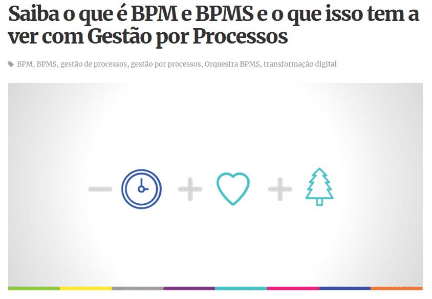 Relação entre BPM, BPMS e Gestão por Processos