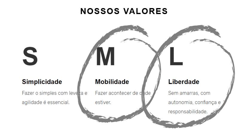 Nossos valores - SML