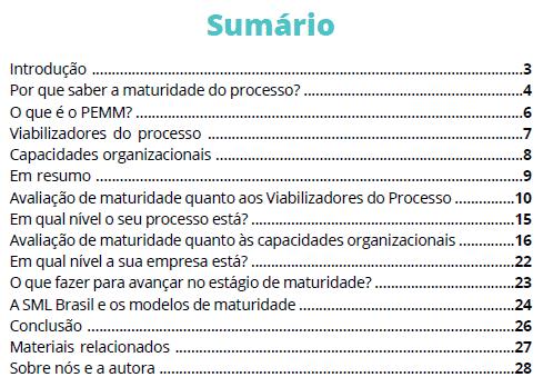 E-book maturidade de processos