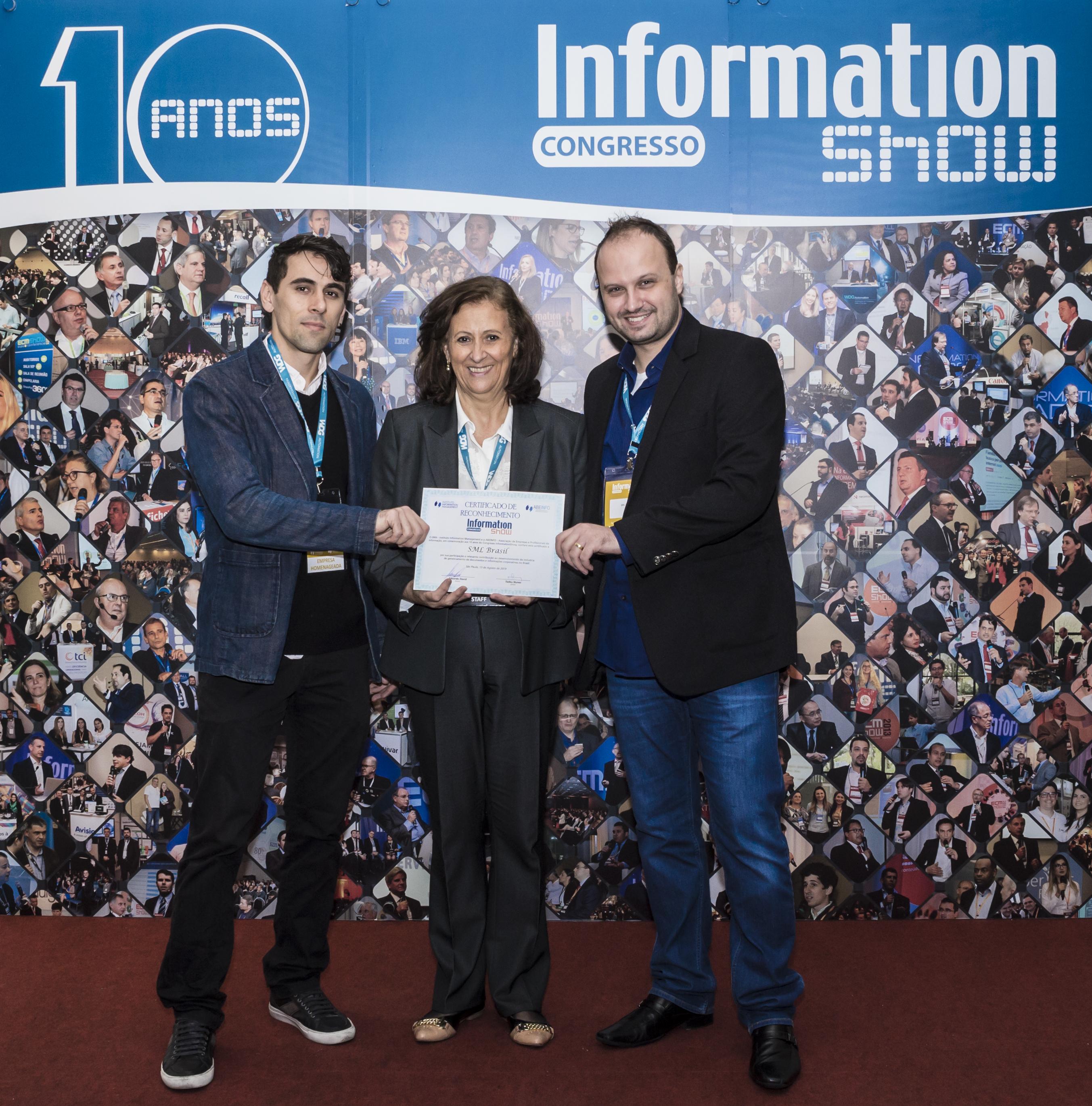 SML Brasil premiada no Information SHOW 2019