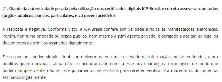 O que o ITI fala sobre aceitação dos Diplomas Digitais