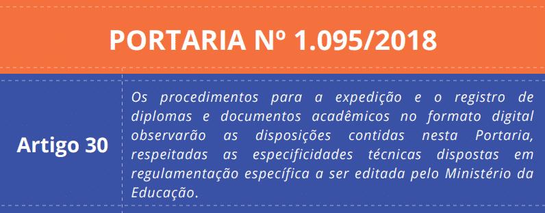 Art. 30 - Portaria 1.095