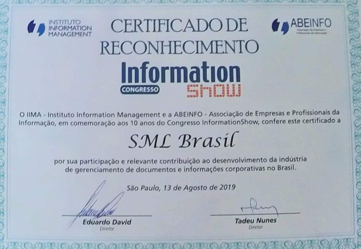 Certificado SML Brasil