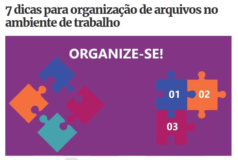 7 dicas para organização de arquivos no ambiente de trabalho