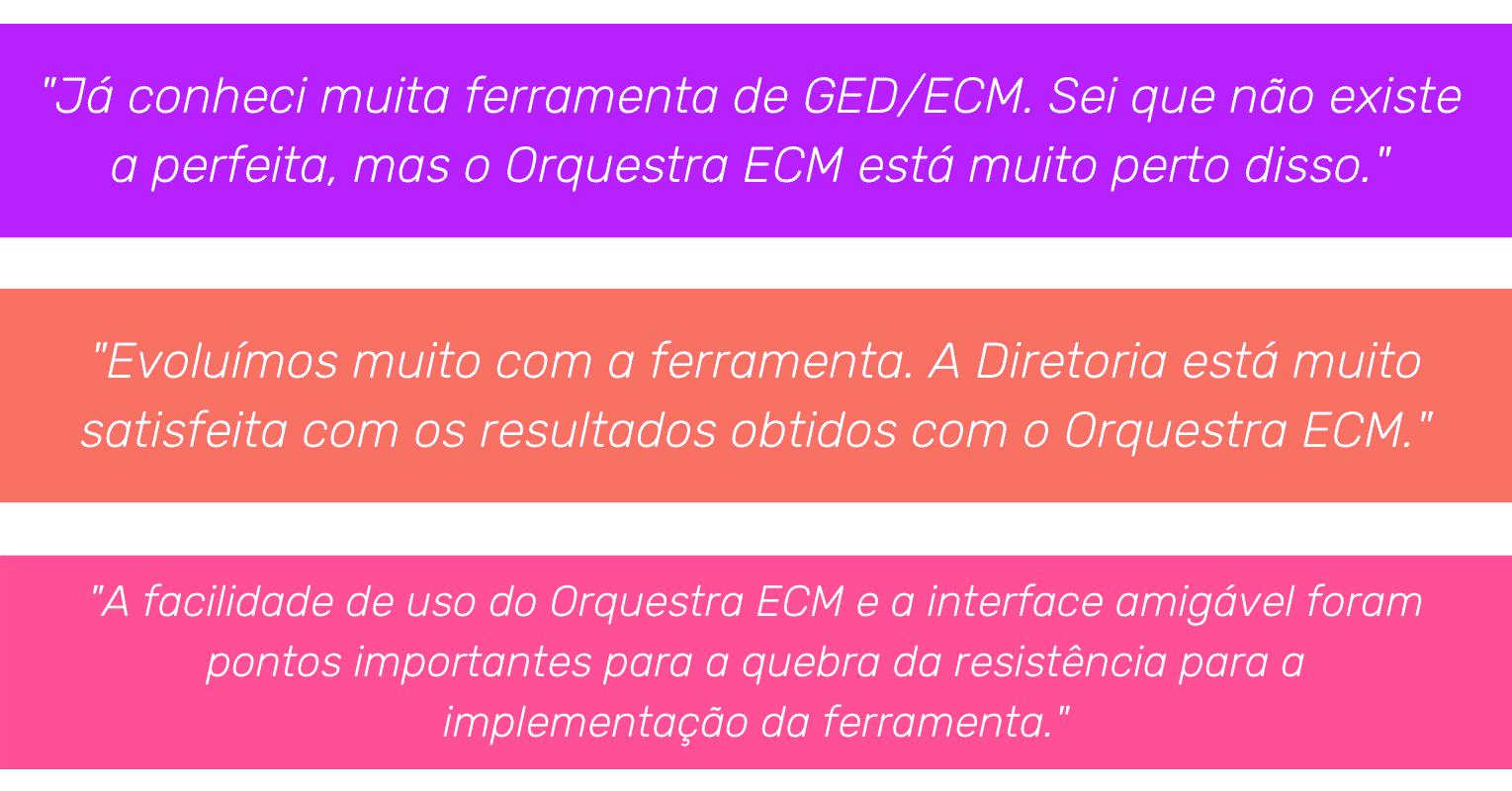 o que dizem sobre Orquestra ECM - gestão eletrônica de documentos