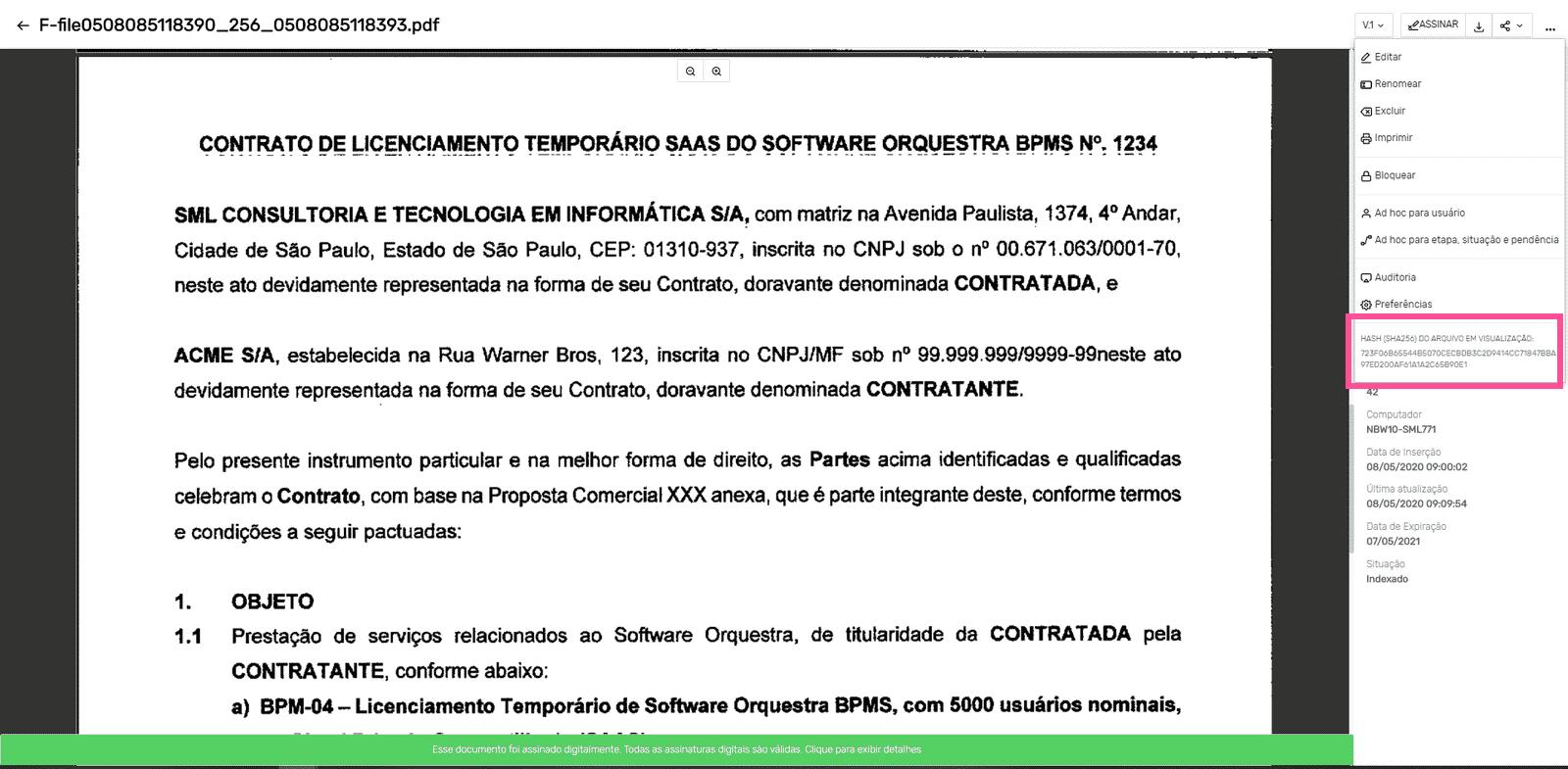 Descarte de documentos_Hash da imagem