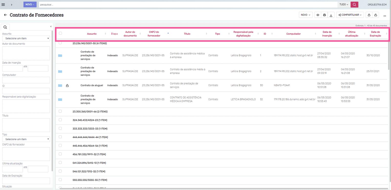 Descarte de documentos: metadados mínimos no ecm
