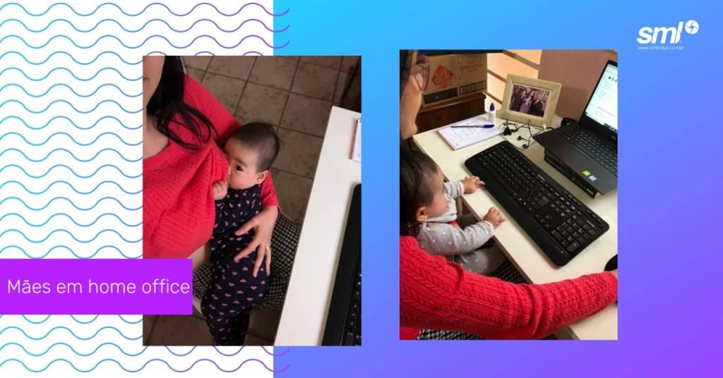 Mães em Home office