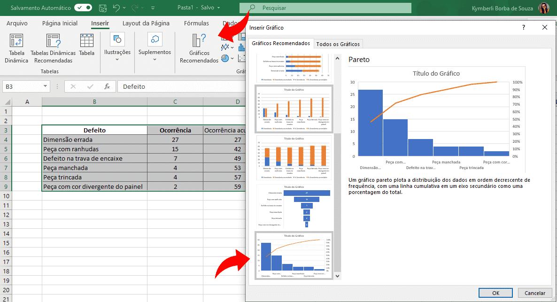 Como criar um gráfico de Pareto no Excel