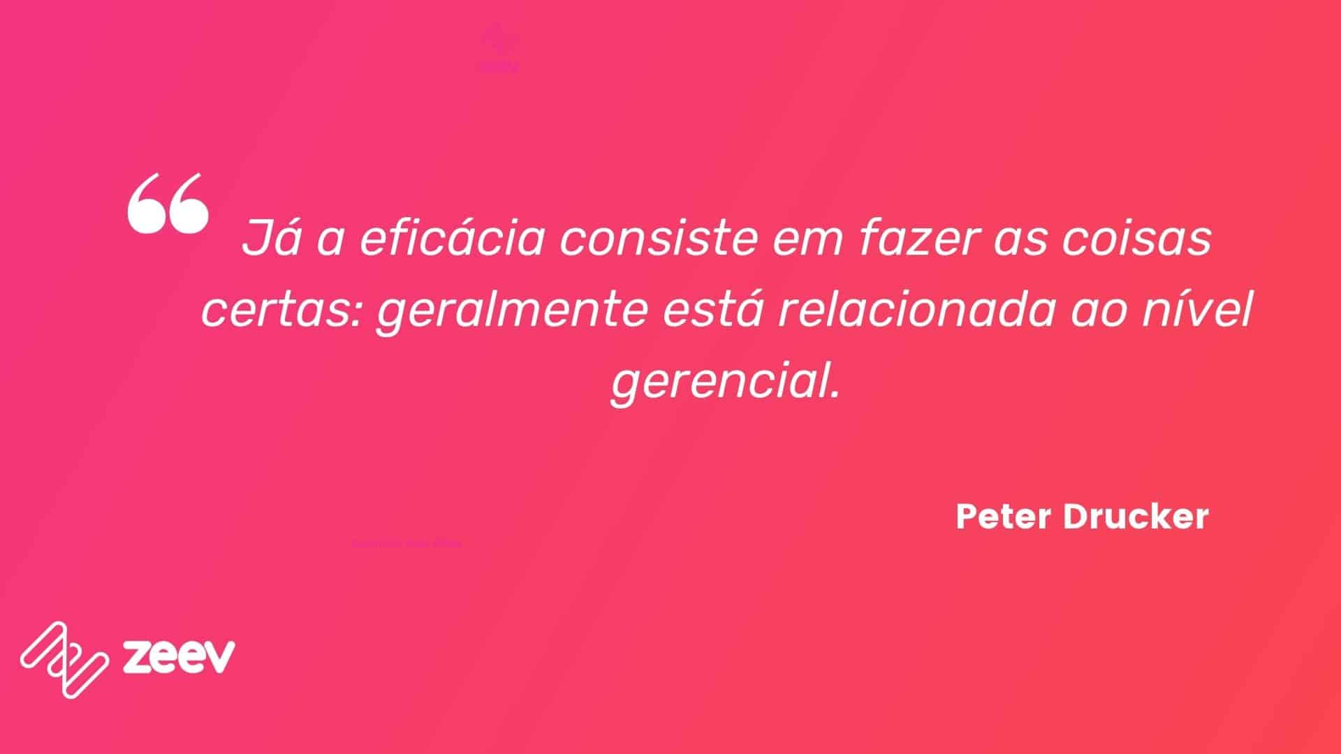Peter Drucker, eficácia