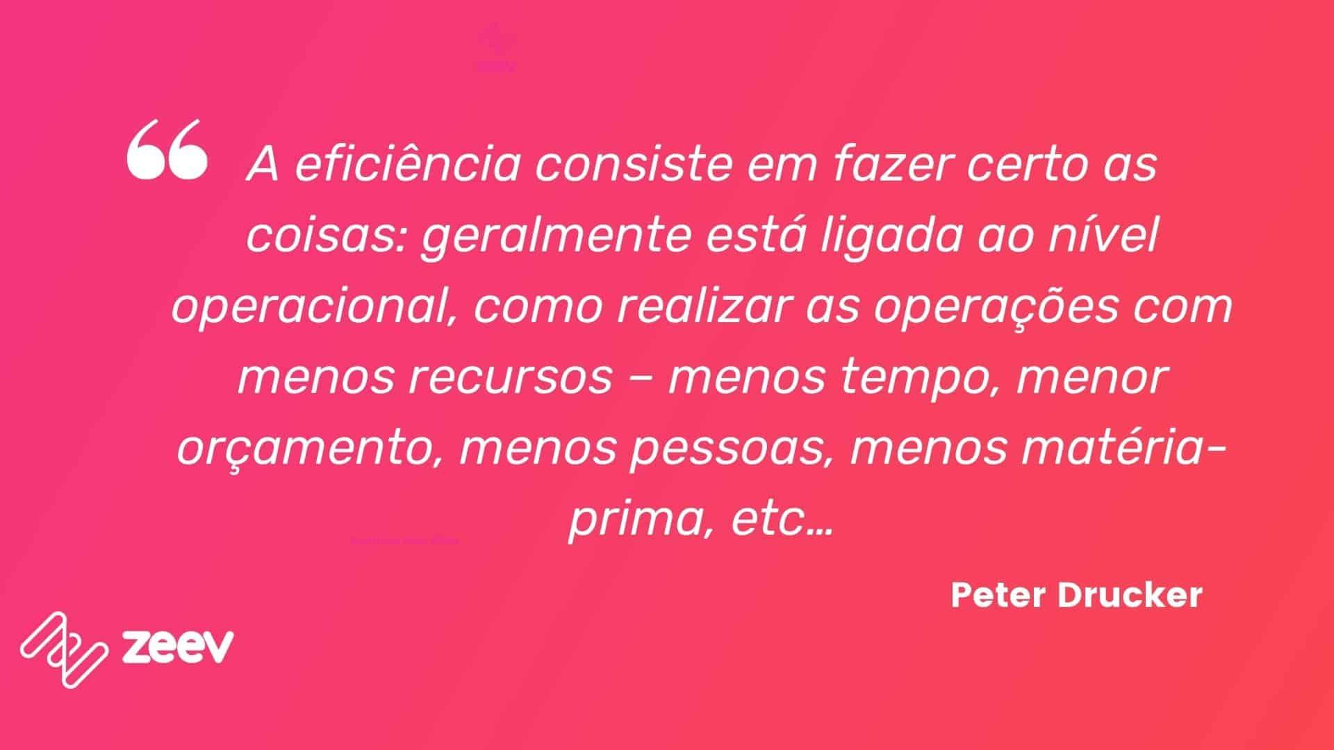 Peter Drucker, eficiência